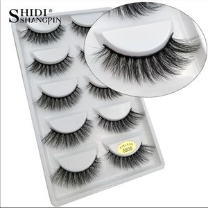 Other - 5 pairs long thick lashes  fake false eyelashes